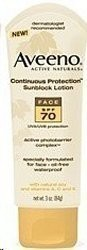Aveeno Face Sunblock 70+
