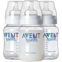 Avent Feeding Bottle Nurser 260ml Triple Pack