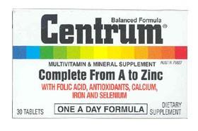 Centrum Multivitamin & Mineral Tablets