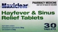 Maxiclear Hayfever and Sinus Relief