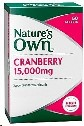Natures Own Cranberry 15000mg Tablets 50