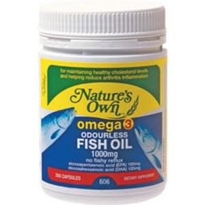 Natures Own Omega 3 Odourless Fish Oil