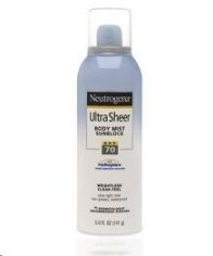 Neutrogena Ultra Sheer Body Mist Sunblock SPF 70
