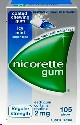 Nicorette Icy Mint Gum 2mg 105 pieces