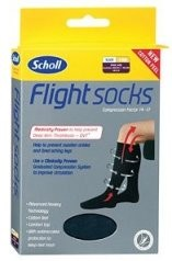 Scholl Flight Socks Black UK 3-6