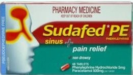 Sudafed PE Sinus and Allergy and Pain Relief Tablets